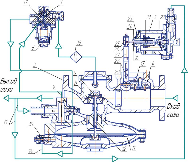 Схема соединения регулятора