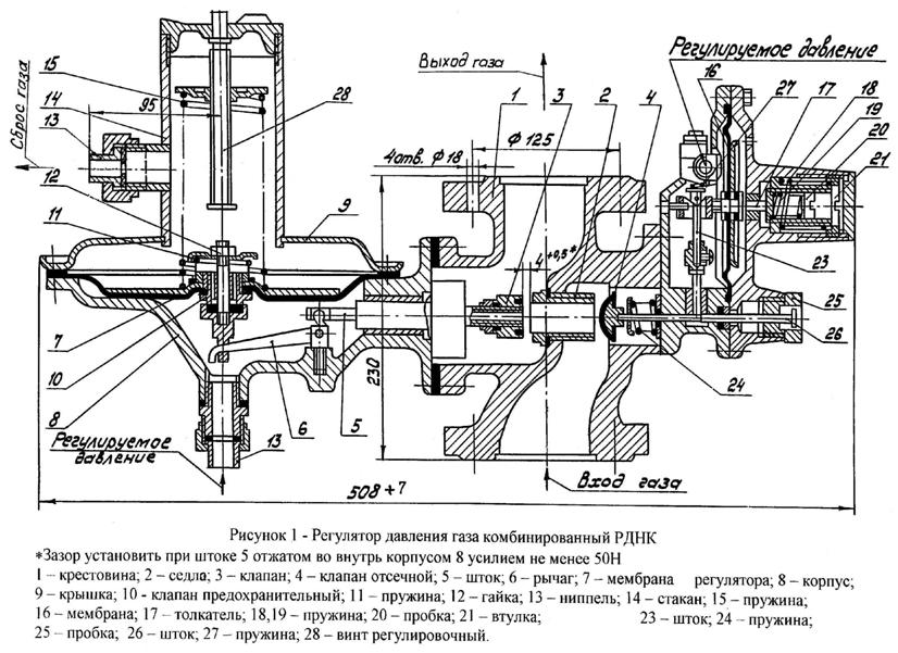 Мембрана отсечного клапана РДНК-32