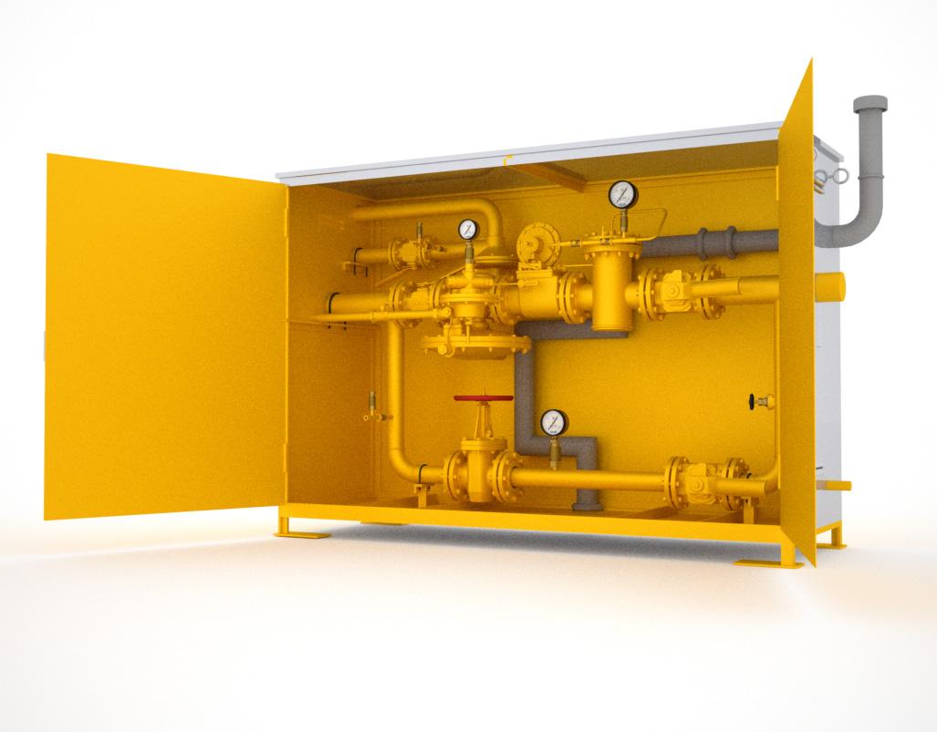 газорегуляторный пункт с двумя линиями редуцирования